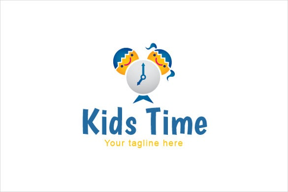 kids time school logo template