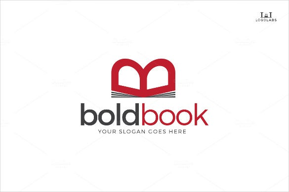 book school logo template