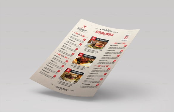 restaurant menu vector eps template download