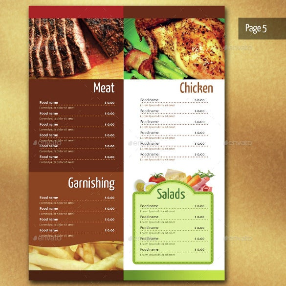 Restaurant Menu Layout Examples : Restaurant menu template free psd eps documents