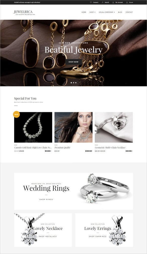 jewelry ecommerce wordpress php theme