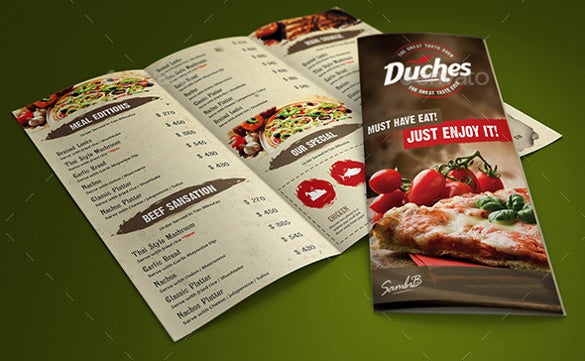 restaurant menu ai illustrator template 1