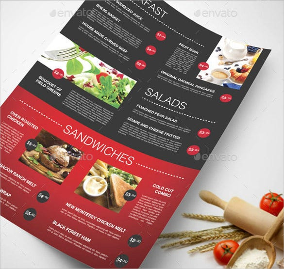 Restaurant Menu Template Sample Download