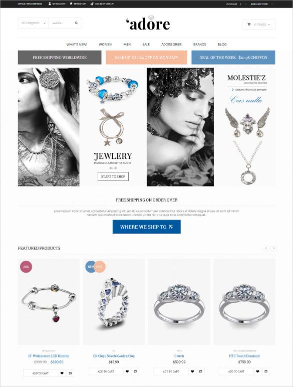 responsive jewelry magento php theme