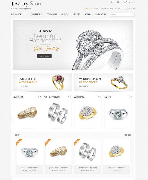 jewelery store responsive opencart php theme