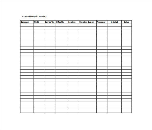 Inventory Spreadsheet Template - 5 Free Word, Excel ...