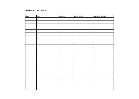 free download inventory control excel format template1