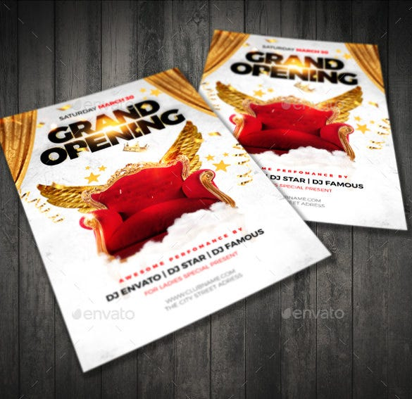 Grand Opening Flyer Template   Free Psd Ai Vector Eps Format