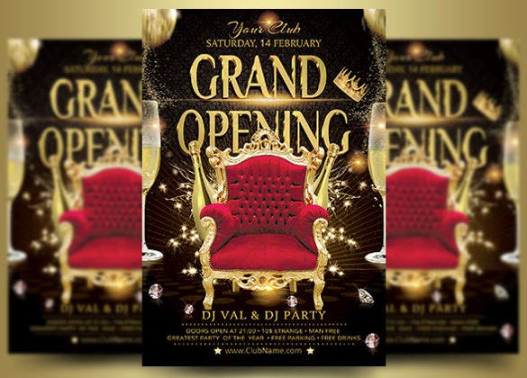 attractive grand opening flyer template