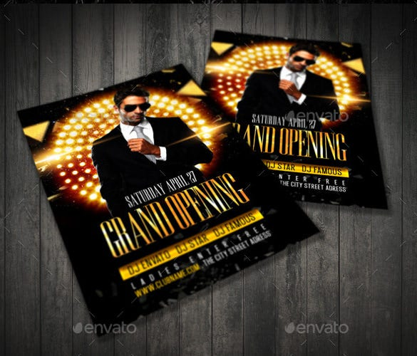 weekend grand opening flyer template