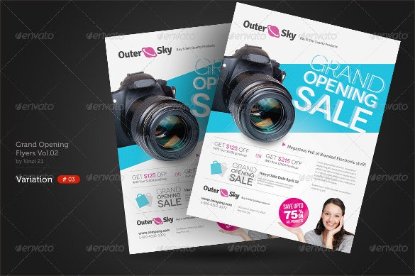 studio grand opening flyer template