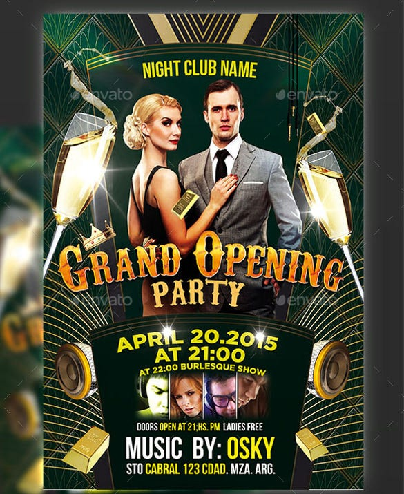 models grand opening flyer template