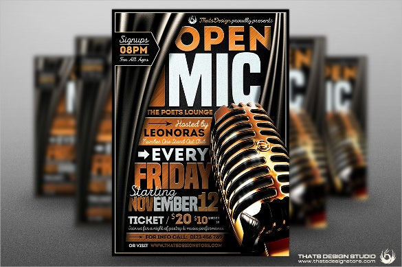 classy opening flyer template