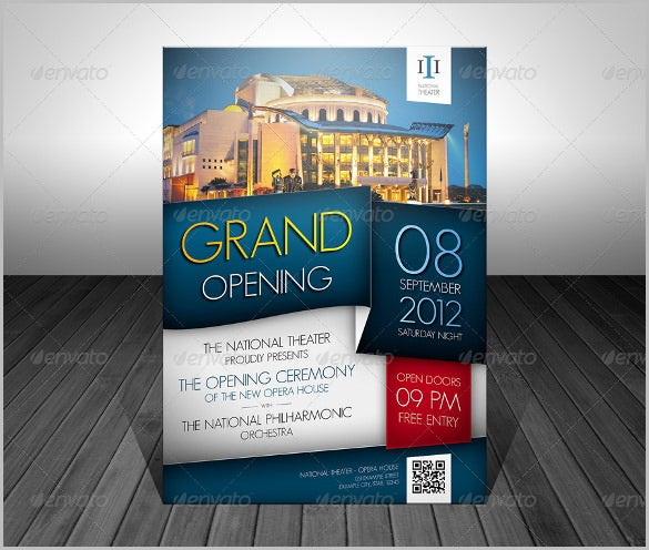 unique grand opening flyer template