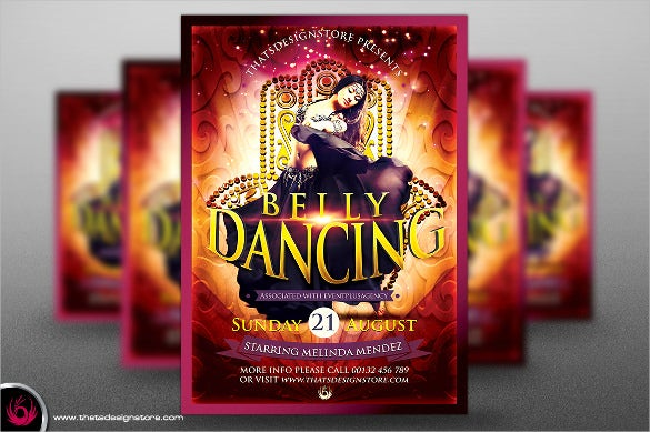 belly dance opening flyer template