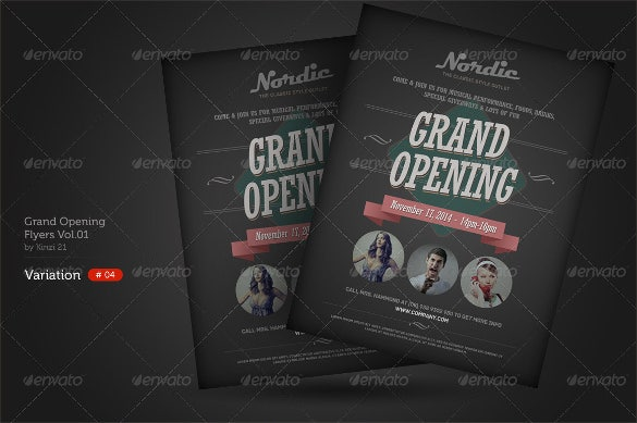 old grand opening flyer template