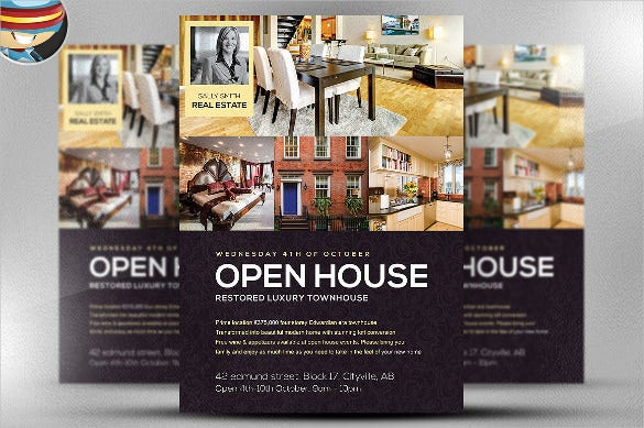house opening flyer template