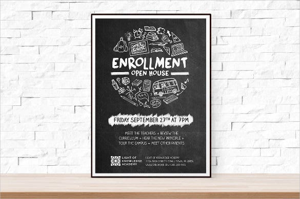 school opening flyer template