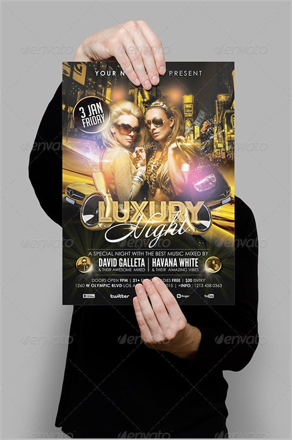 vip grand opening flyer template