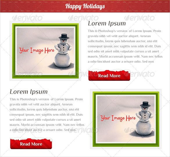 business holiday email template psd
