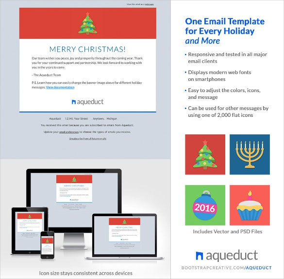 design holiday email template