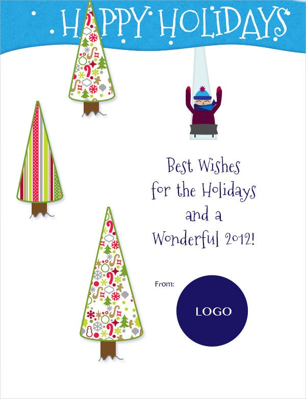 happy holiday email template