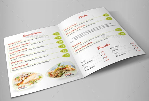 restaurant menu vector eps format template download