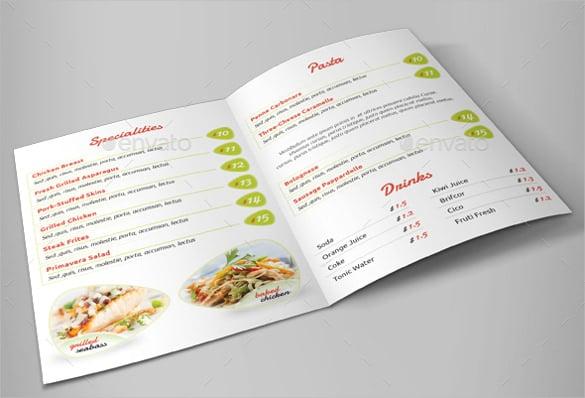 restaurant menu vector eps format template download
