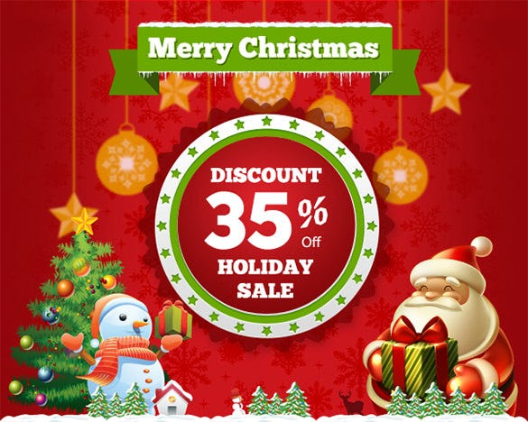 christmas happy holiday email template