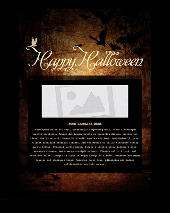 spooky holiday email template