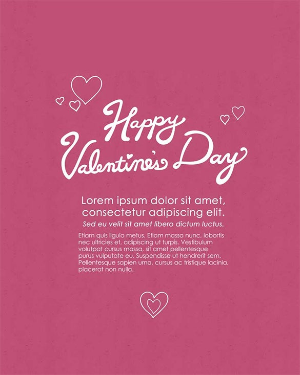 valentines day holiday email template