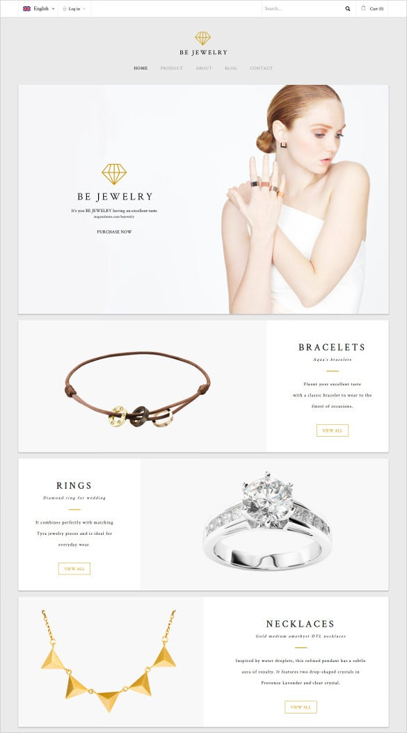 jewelry material responsive magento theme