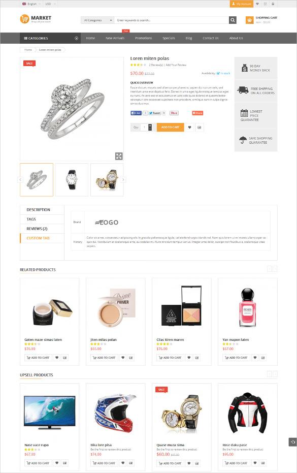 premium responsive jewelry magento theme