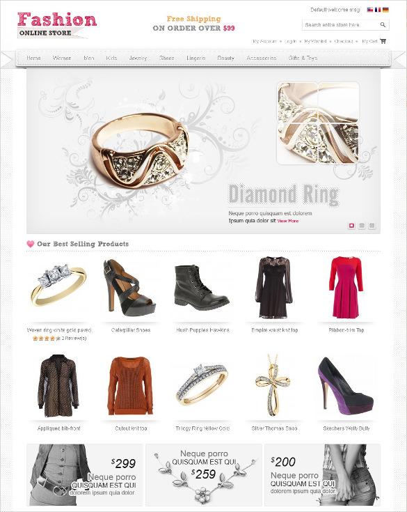 fashion jewelry magento template