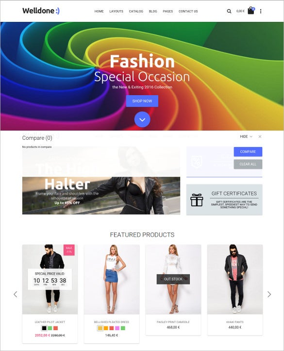 welldone joomla virtuemart ecommerce theme