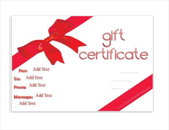 Gift certificate template 34 free word outlook pdf for Gift certificate template word