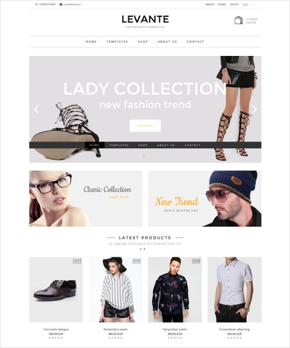 levante ecommerce joomla template