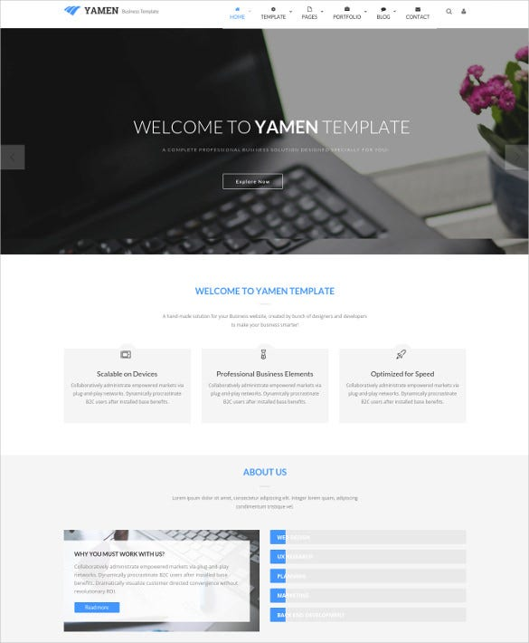 yamen responsive business joomla template