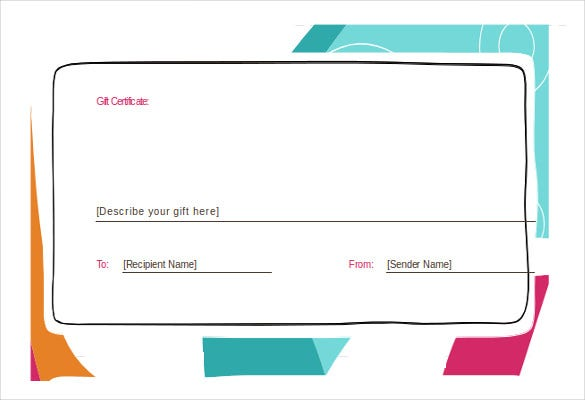 Gift Certificate Template 34 Free Word Outlook PDF InDesign – Gift Voucher Template Word Free Download