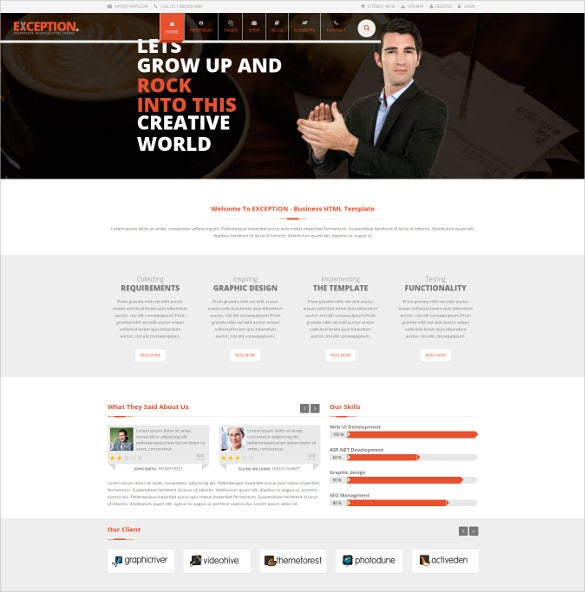 exception multi purpose joomla template