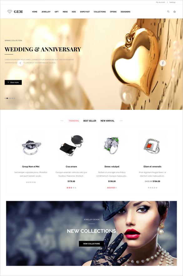 responsive magento jewelry magento template