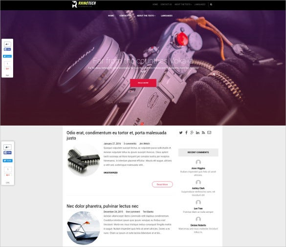 free profession business wordpress theme