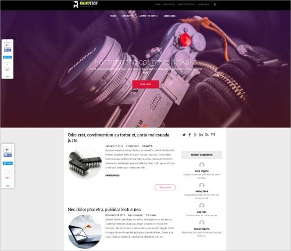 free profession business wordpress theme