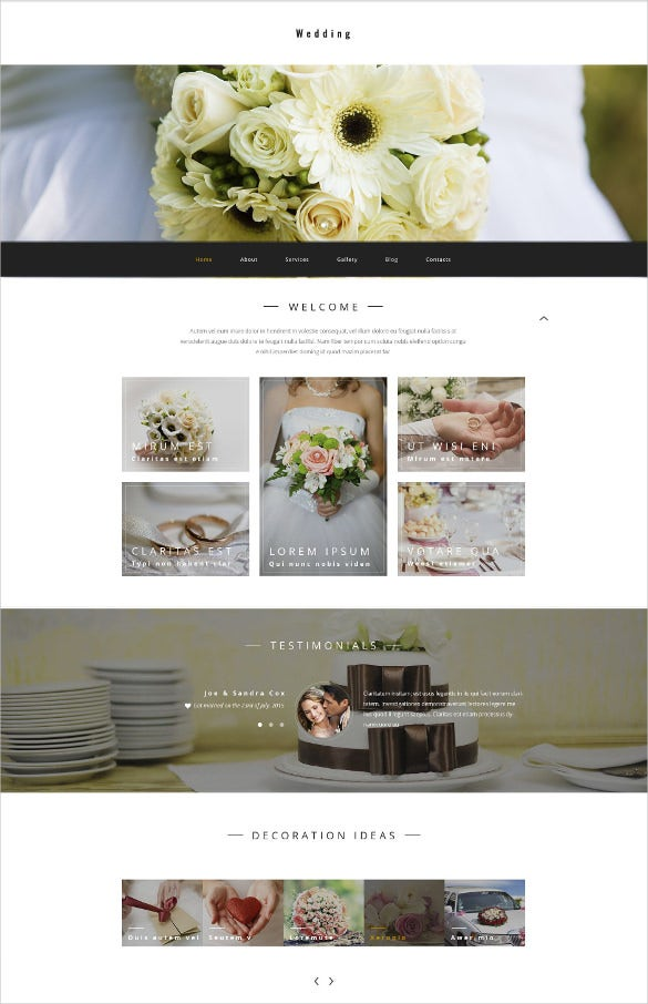 wedding store wordpress theme