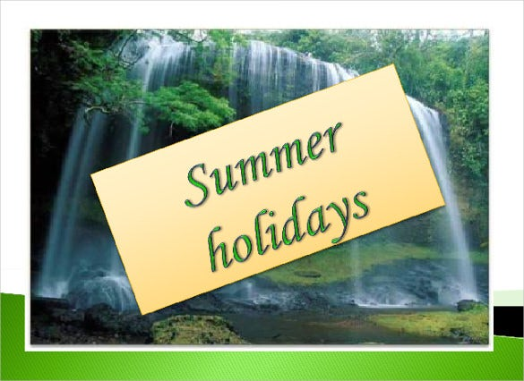 summer holiday ppt format free template