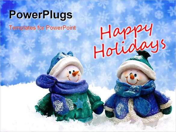beautiful happy holidays ppt template