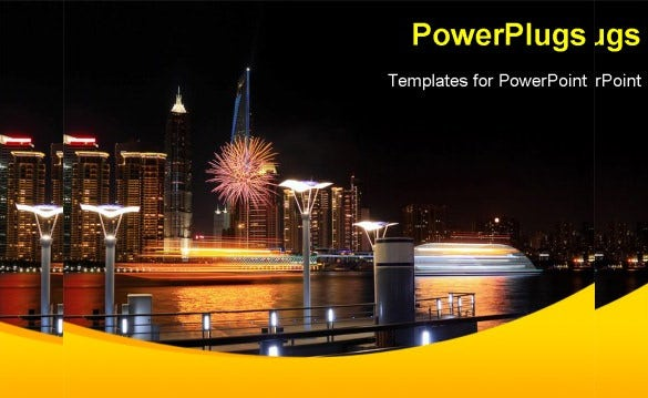 holiday night powerpoint template