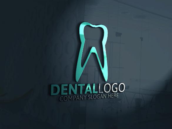 brand dental logo template
