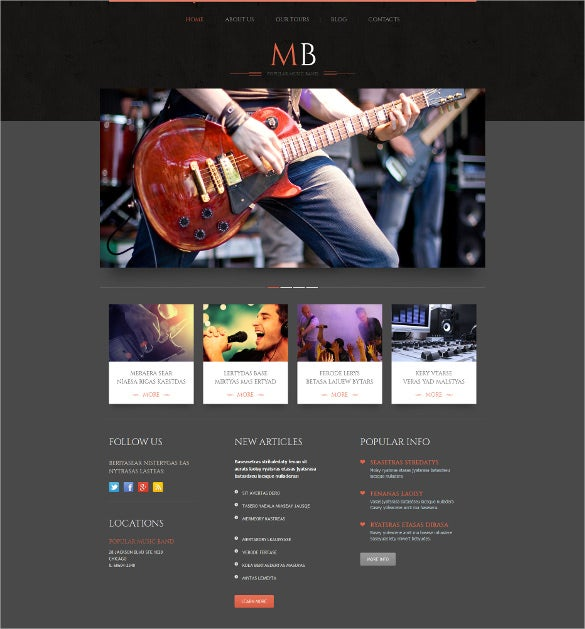 wedding music band responsive wordpress theme