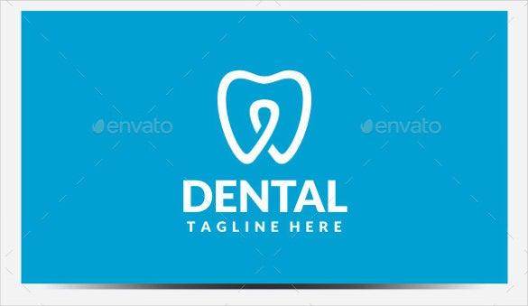 blue dental logo template